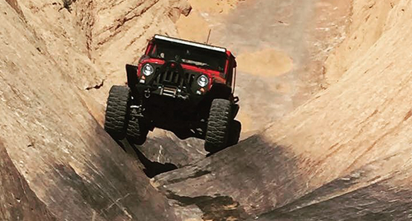 Carl showing Hell's Gate in Moab who's boss