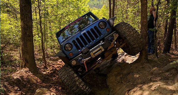 Chas & Ashley decided to climb trees instead of rocks at Hawk Pride Offroad